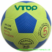 Light Yellow High Quality Rubber Football Export to South America