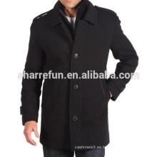 2014-2015 Moda y estilo casual 100% abrigo de lana de los hombres