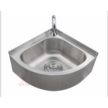 Stainless steel triangular kitchen sink