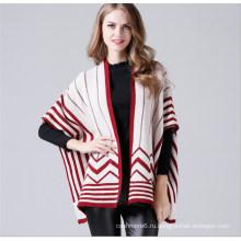 Дамы Мода Вязание Пончо Оптом Фабрика