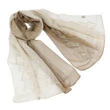 Écharpe en soie à deux tons en malaisie en malaisie avec des lentilles