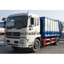 Dongfeng 4 * 2 LHD chasis posterior compactador camión de basura (VL5120)