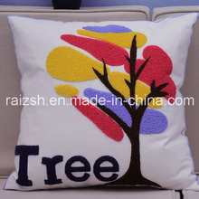 Haut de gamme tridimensionnel en coton de haute qualité brodé Oreiller Customized Embroidered Pillow Cover for Wholesale