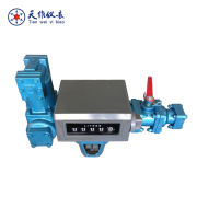 Fuel oil loading/unloading PD flow meter with filter