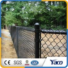 ciclón valla tejida de malla de forma de diamante valla de cadena al por mayor precio de valla de enlace de cadena para la venta