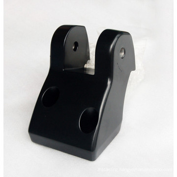 precision die casting part with black spray coating