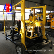 XYX-130 Trailer type household well digger in stock wheeled hydraulic water well drilling machine is convenient to walk