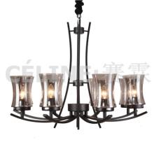 Grande quantidade promoção lâmpada pingente com sombra de vidro (SL2246-8)