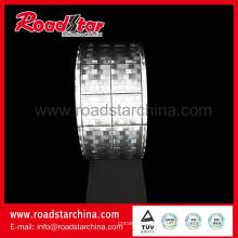 Prismático retro brillante material de cinta reflectante de pvc