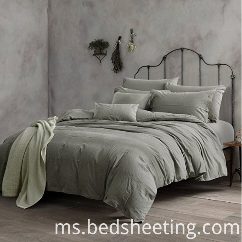 Solid Dyed Washed Cotton Duvet Cover