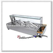 K465 3 Pfannen lange Lebensdauer Edelstahl Tischplatte elektrische Bain Marie