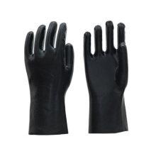 Schwarze industrielle anti chemische PVC Handschuhe zum Verkauf