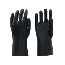 black industrial anti chemical PVC gloves for sale