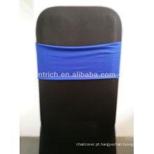 Lindo azul Royal de Spandex Sash, faixa de Lycra,