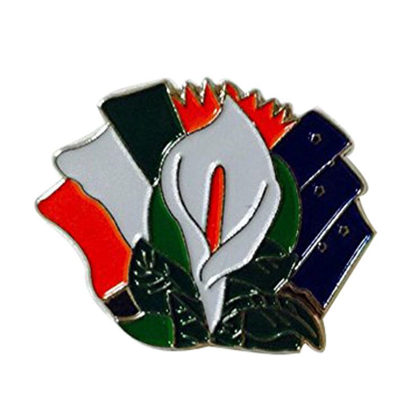 Easter Lily Ireland Starry Plough Flags Enamel Pin Badge