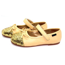 girls child kid sweet gold princess dress shoes school