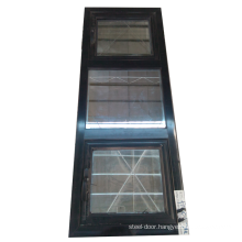 Soundproof  house window design 3 panels aluminum awning window