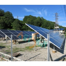 Solar PV Ground Mounting System with Directly Buried Pipe