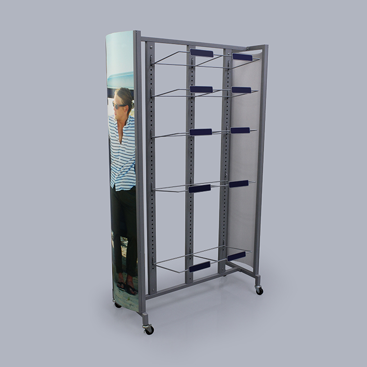 Large Metal Retail Display Stand With Cardboard