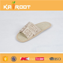 summer natural linen cheap wholesale bedroom slippers