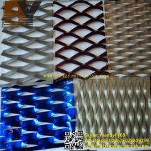 Malla de metal expandido de aluminio / Hoja / Rhombic en forma de malla expandida