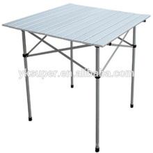 Mesa de piquenique de alumínio dobrável para lazer ao ar livre