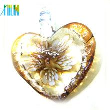 Neueste Perlen mit Lampwork Glas Herz Anhänger