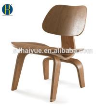 2017 muebles populares de la sala de estar de la réplica de la silla de la chapa de madera negra