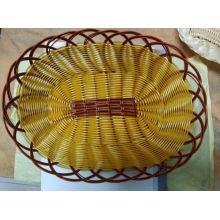 Корзина с ротангом из плетеного плетеного пластика