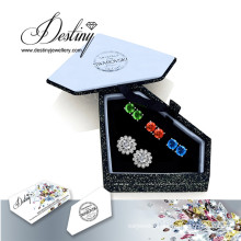 Destiny Jewellery Crystals From Swarovski Combination Flower Earrings