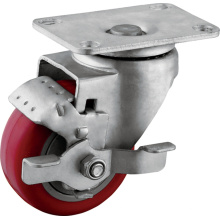 Medium Duty Wheel Brake PU Casters