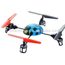 Wl brinca o aviador grande do helicóptero do quadrilátero de 4G 4ch 3D v929 (4 ufo da lâmina)