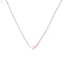 Exquisite Mother's Day Gift Ideas 18K Rose Gold Plating Charm Heart Pendant Necklace