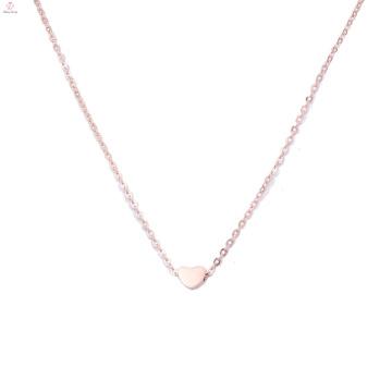 Изысканный подарок на День Матери идеи 18k розовое золото обшивки ожерелье Шарма сердца Кулон