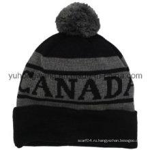 Промоциональные зимние теплые акриловые трикотажные шапочка черепа шапка / Cap