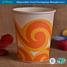 Coupe en papier jetable en gros pour boissons chaudes