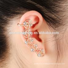 Классическое правое ухо для серьги с бриллиантами в форме сердца