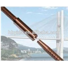 Corrosion resistant rebar taper thread coupler for civil engineering