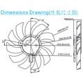 Dz10015 Cooling Fan 100*100*15 mm Support Fan