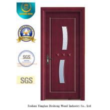 Einfache Art MDF-Tür für Innenraum mit Glas (xcl-845)