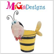 Schöne Baby Bee Metall Verkauf Dekoration Animanl Pflanzer