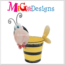 Adorável bebê abelha Metal venda decoração Animanl plantador