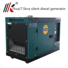 Pequeno gerador diesel 7 kva pequeno gerador diesel portátil à prova de som 7000 watt preço Índia