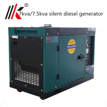 kleiner 7 kva Dieselgenerator kleiner schalldichter tragbarer Dieselgenerator 7000 Watt Indien-Preis