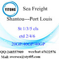 Shantou Port Sea Freight Shipping ke Port Louis
