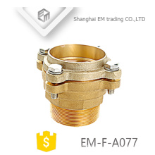 EM-F-A077 Tipo de brida de latón con doble brida de manguera de cobre