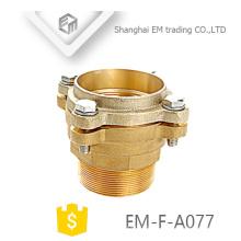 EM-F-A077 Latão mangueira dupla flange tipo encaixe de tubulação de cobre