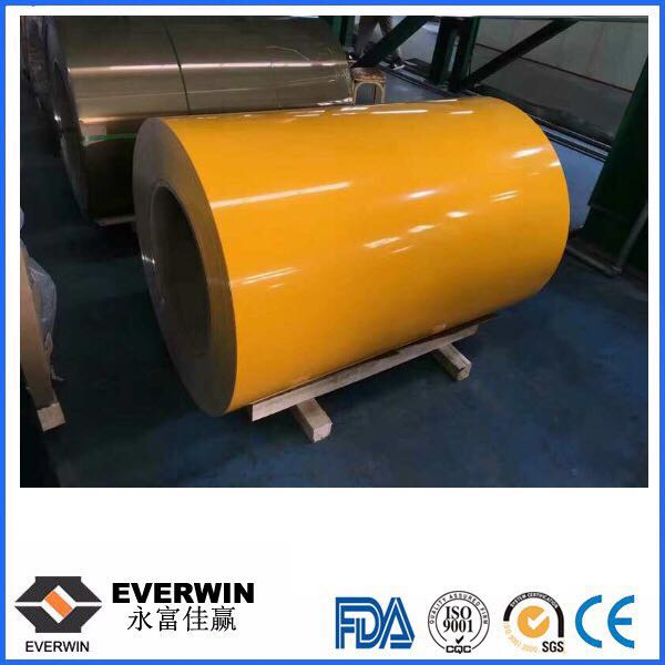 oragne color coated aluminum coil