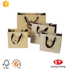 Bolsa de papel fuerte personalizada con mango plano