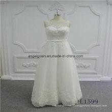 Sleeveless A Line Lace New Design Wedding Dress